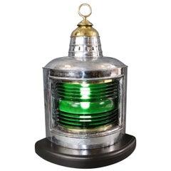 Polished Steel Ships Starboard Lantern