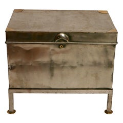 Polished Steel Trunk on Later Stand