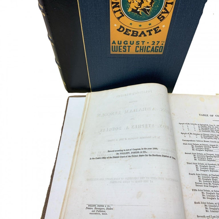 Political Debates Between Abraham Lincoln and Stephen Douglas First Edition 1860 In Good Condition For Sale In Colorado Springs, CO