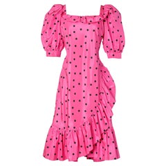 "Polka dots 80's cocktail dress Nina Ricci ""Haute Boutique"""