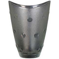 Polka Dots Glass Vase, Italy, 1970s