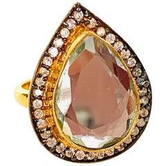 Polki Mirror Cubic Zircon Ring