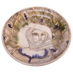 Pollack Figural Stoneware Decorative Plate