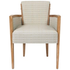 Pollaro Cerused Oak Armchair Inspired by Dupré-Lafon