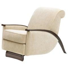 Pollaro Émile-Jacques Ruhlmann Reproduction Club Chair in Macassar Ebony