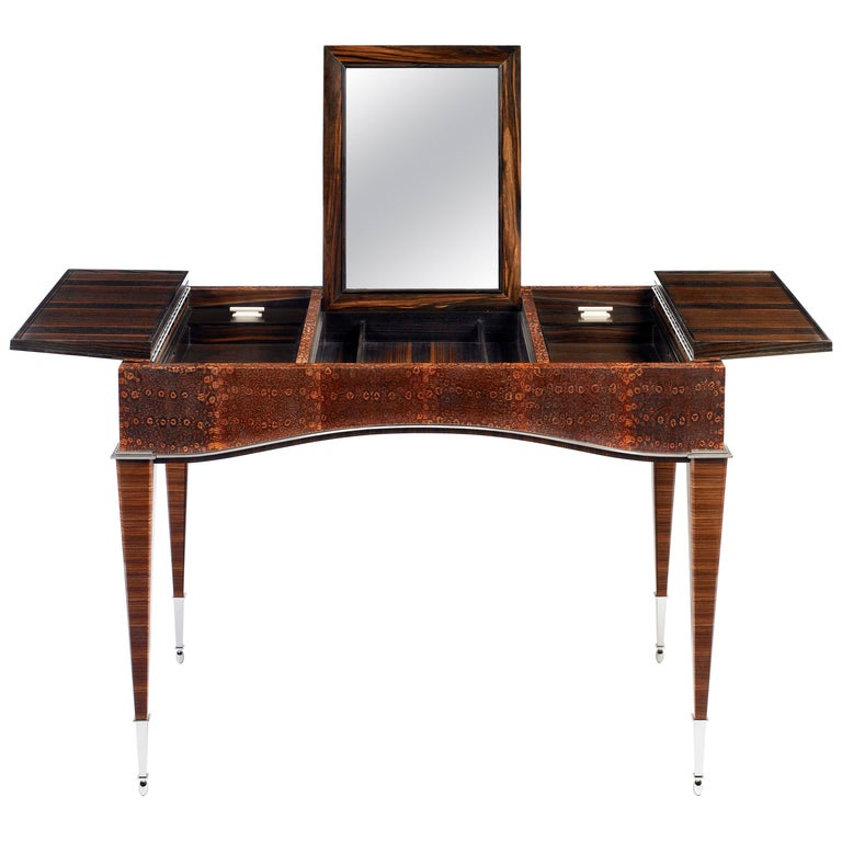 Pollaro Ring Lizard/ Ebony Émile-Jacques Ruhlmann Reproduction Dressing Table For Sale