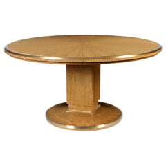 Pollaro Ruhlmann Reproduction Sunburst Pedestal Table in Ceylon Satinwood