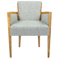 Pollaro Satinwood Armchair Inspired by Dupré-Lafon
