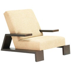 Pollaro Upholstered Club Chair in Rift White Oak