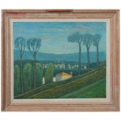 "Pollet A, 'active in Lille around 1960' ""Mediterranean Landscape"" Oil on Canvas"