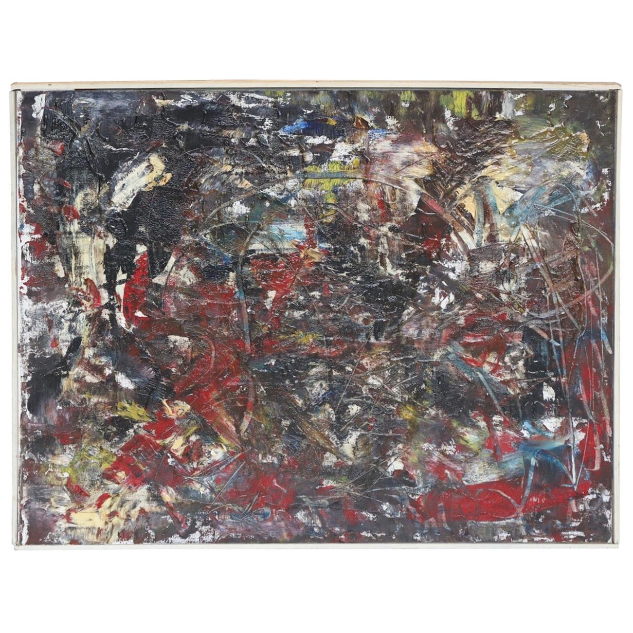Pollock Style Oil Painting, 1978