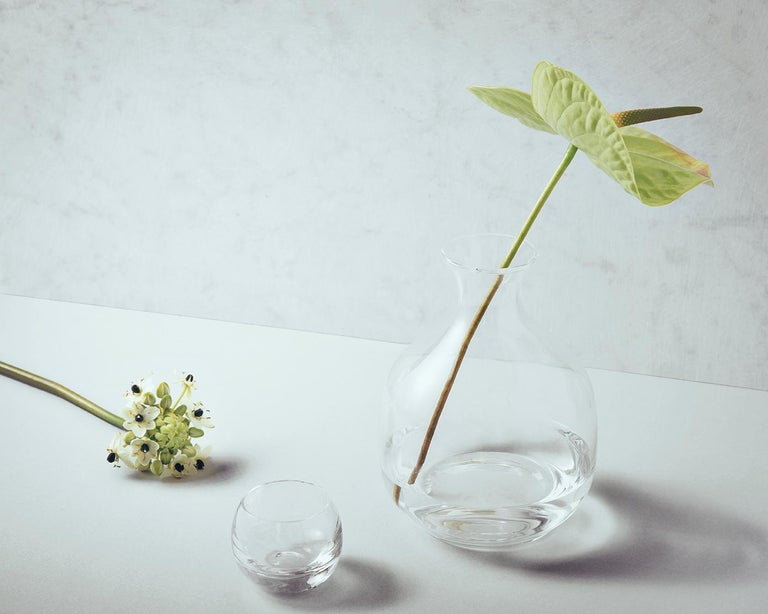 Polly Carafe in Blown in a Mold Glass Designed by Aldo Cibic In New Condition For Sale In Milan, IT