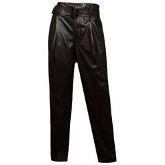 Polo by Ralph Lauren Brown Leather Slacks w/ Belt sz 4 NWT