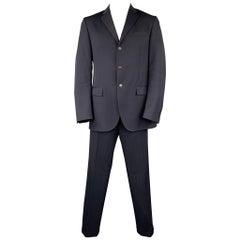 POLO by RALPH LAUREN Size 42 Long Navy Wool Notch Lapel Suit
