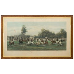 Antique Polo Print, Match at Hurlingham Between the Horse Guards 'Blues'..