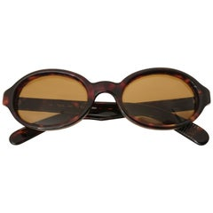 Polo Ralph Lauren Brown Oval Vintage Sunglasses