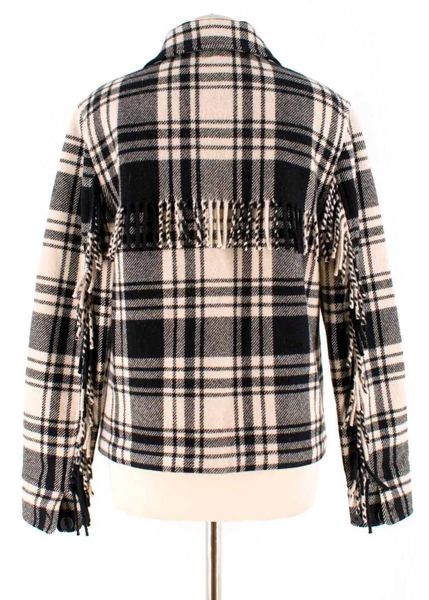 Ralph Aw18 Fringe Trimmed Shirt Lauren Faye Polo Plaid Pn0Owk