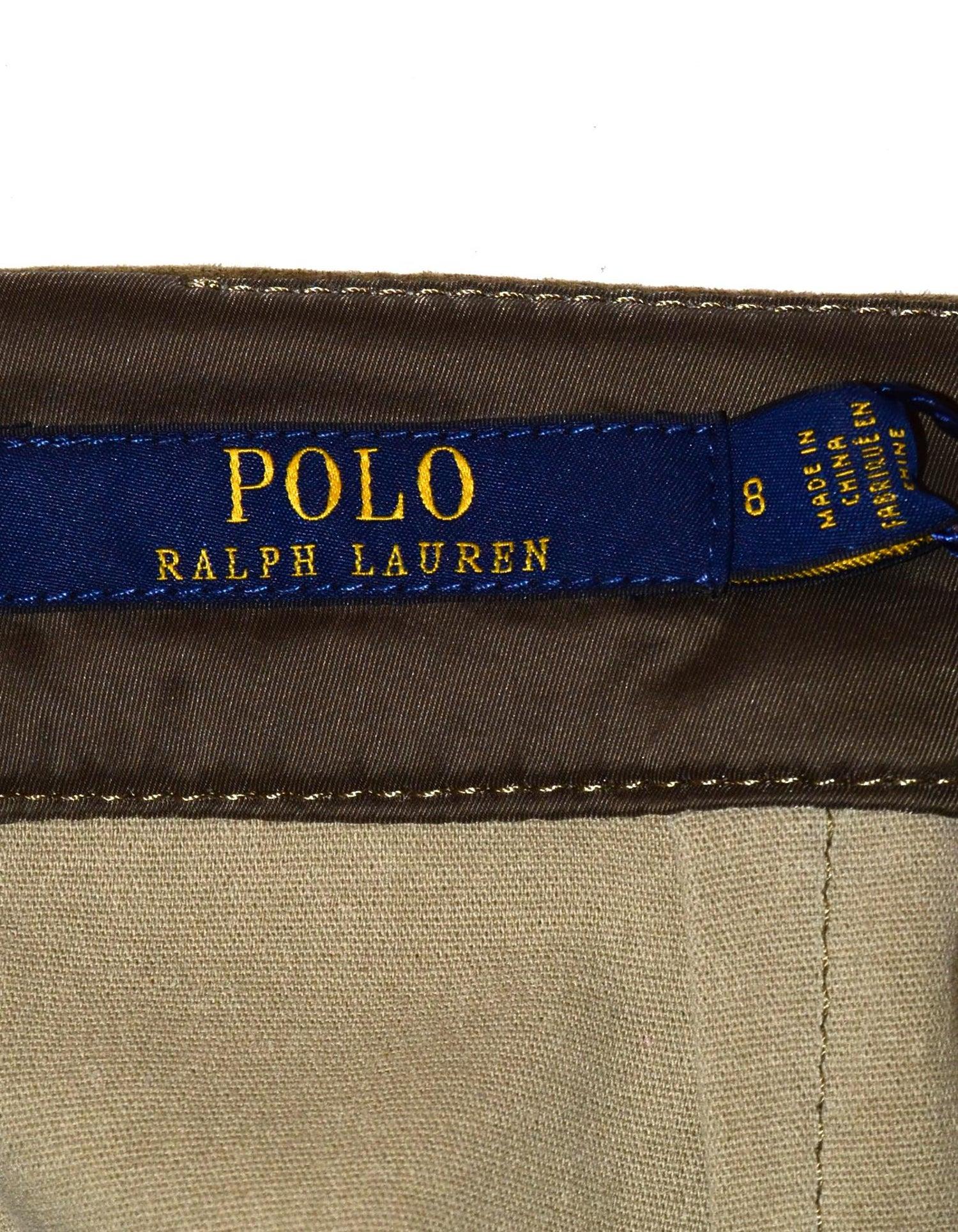 de Lauren falda Polo Ralph Mini 8 gamuza verde Nwt Sz 5j4ARL