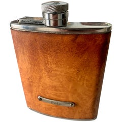 Polo Ralph Lauren Leather and Stainless Steel Flask