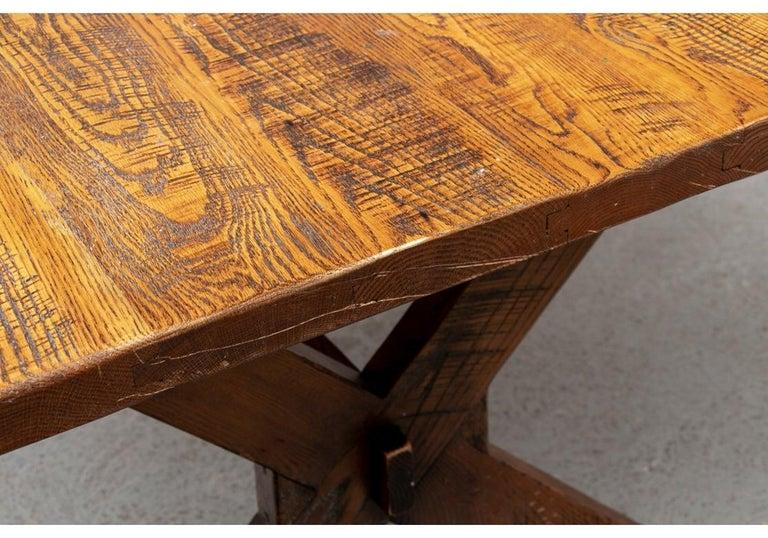 Country Polo Ralph Lauren Oak Farm Table  For Sale