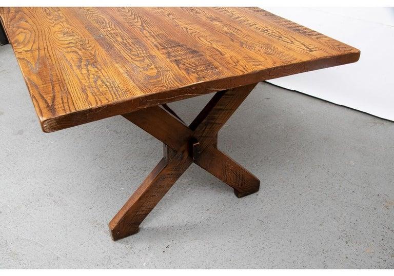 Polo Ralph Lauren Oak Farm Table  In Good Condition For Sale In Bridgeport, CT