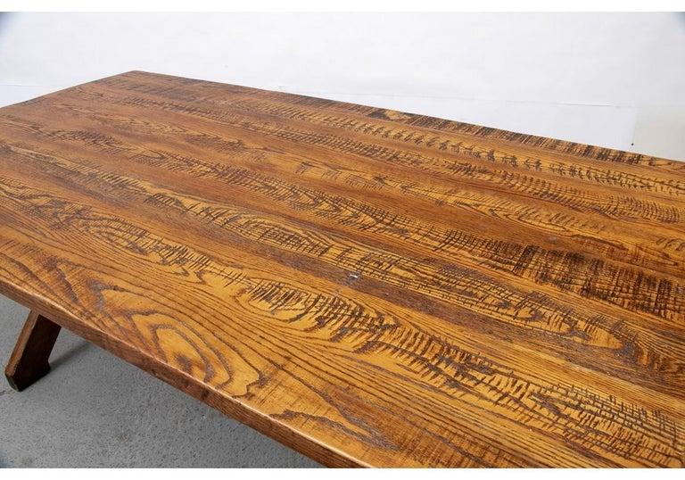 20th Century Polo Ralph Lauren Oak Farm Table  For Sale