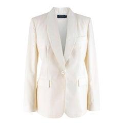 Polo Ralph Lauren White Wool Blazer 6 UK