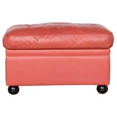 Poltrona Frau Dream on Designer Leather Footstool Orange