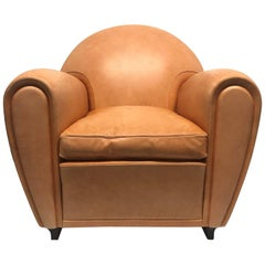 Poltrona Frau Leather Lounge Chair