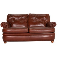 Poltrona Frau Leather Sofa Cognac Two-Seat