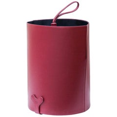 Poltrona Frau Purple Leather Umbrella Stand