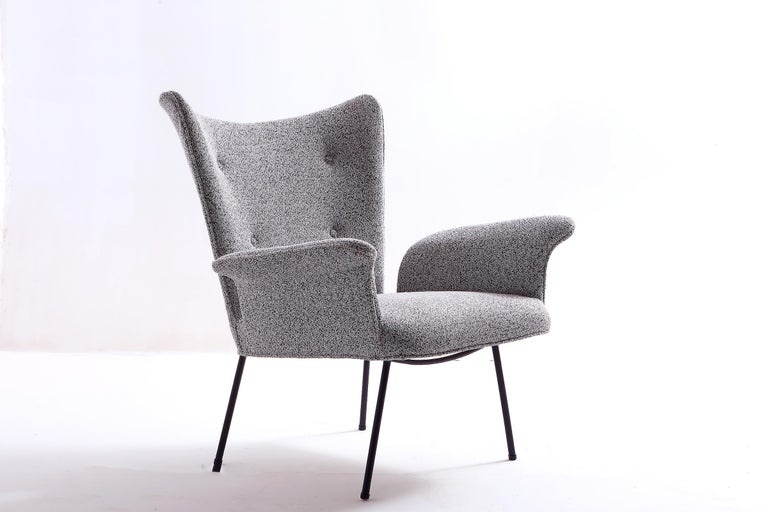 Fabric Brazilian Mid-century Modern Armchair by Martin Eisler / Carlo Hauner For Sale