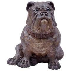 Polychromatic Ceramic Bulldog, English Antiques, Late 19th Century