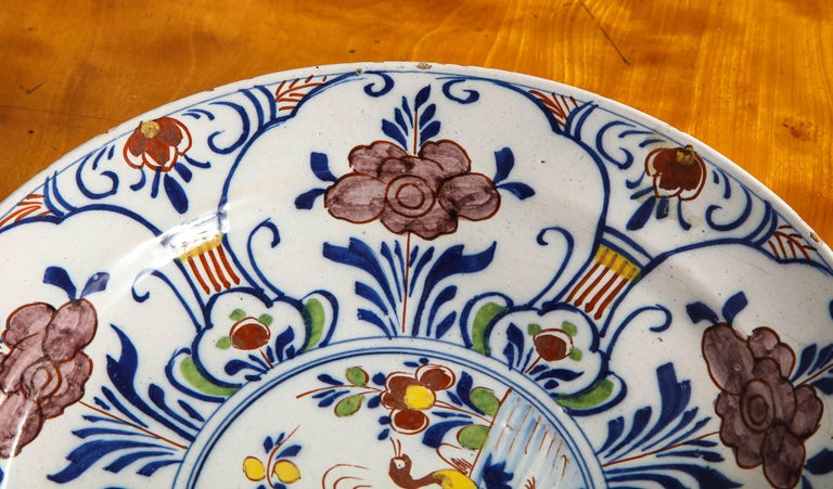 Polychrome Delft Deep Dish For Sale 4