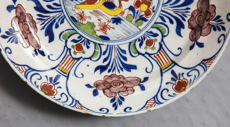 Polychrome Delft Deep Dish In Excellent Condition For Sale In New York, NY