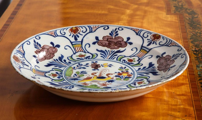 Polychrome Delft Deep Dish For Sale 2