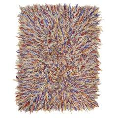 Polychrome Filikli Angora Wool Anatolian Rug Designed by Pini Leibovich