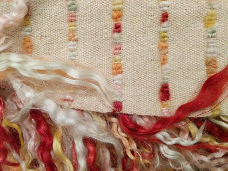 Polychrome Filikli Angora Wool Anatolian Runner Rug Designed by Pini Leibovich For Sale 2