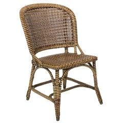 Polychrome Rattan Side Chair