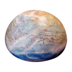 "Polychrome Terracotta ""Sphere"" by Anita Tullio"