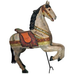 Polychromed Carved Wood Carousel Horse 'Apache'
