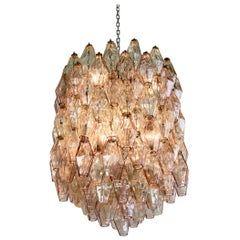 Polyhedron Chandelier by Carlo Scarpa, Murano Glass, 1960s