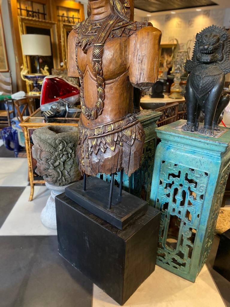 Southeast Asian Standing Chief Statue In Good Condition For Sale In Sarasota, FL