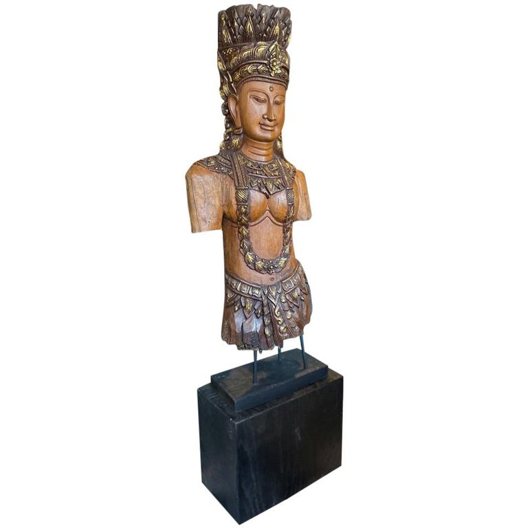 Southeast Asian Standing Chief Statue For Sale