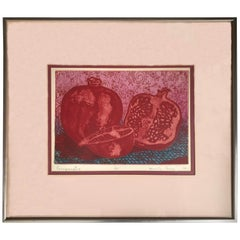 """""""Pomegranates"""" Lithograph by Marcella Corwin"""