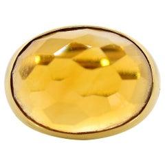 Pomelatto Citrine Gold Ring