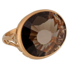 Pomellato 10 Carat Smoky Quartz Cocktail Rose Gold Ring