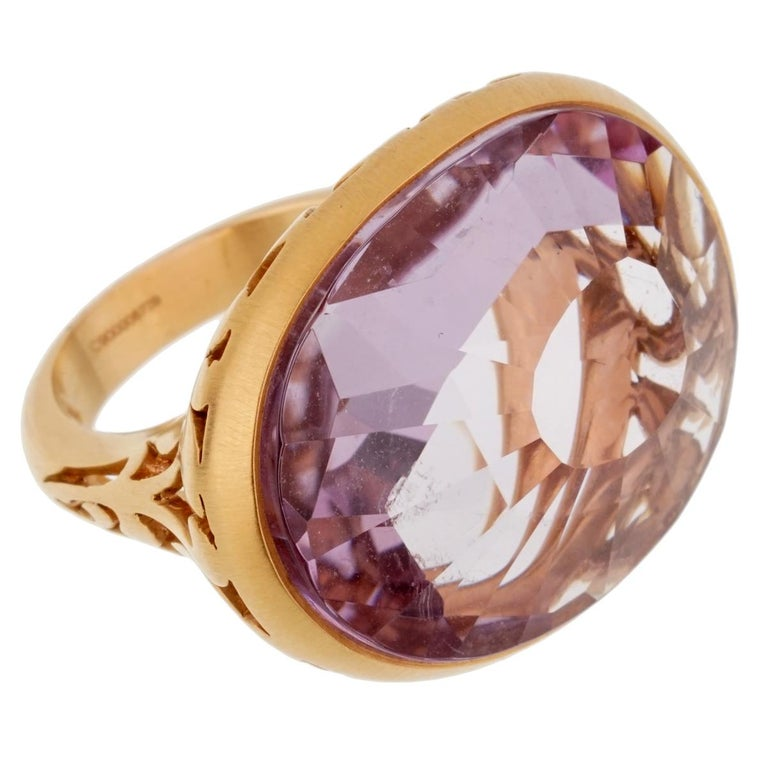 Pomellato 10 Carat Amethyst Cocktail Rose Gold Ring In New Condition For Sale In Feasterville, PA