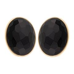 Pomellato 17.90ct Black Jet Rose Gold Earrings