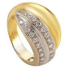 Pomellato 18 Karat Multi-Tone Gold Diamond Band Ring